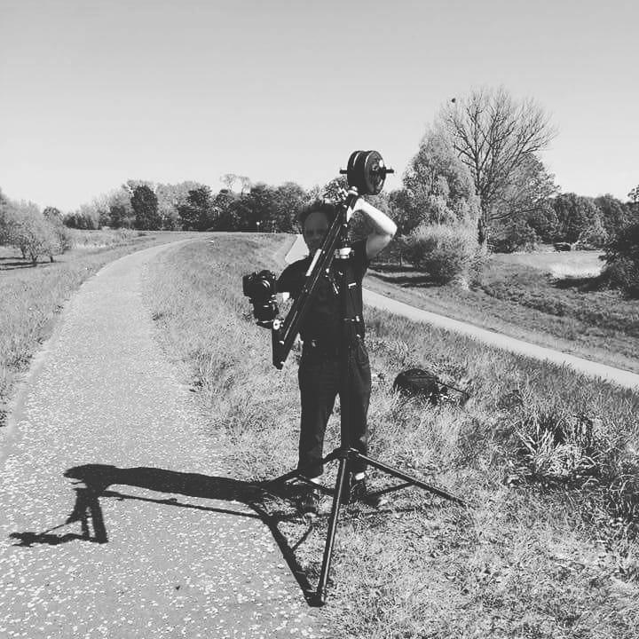 Dreharbeiten für Musikvideo am Oderdeich