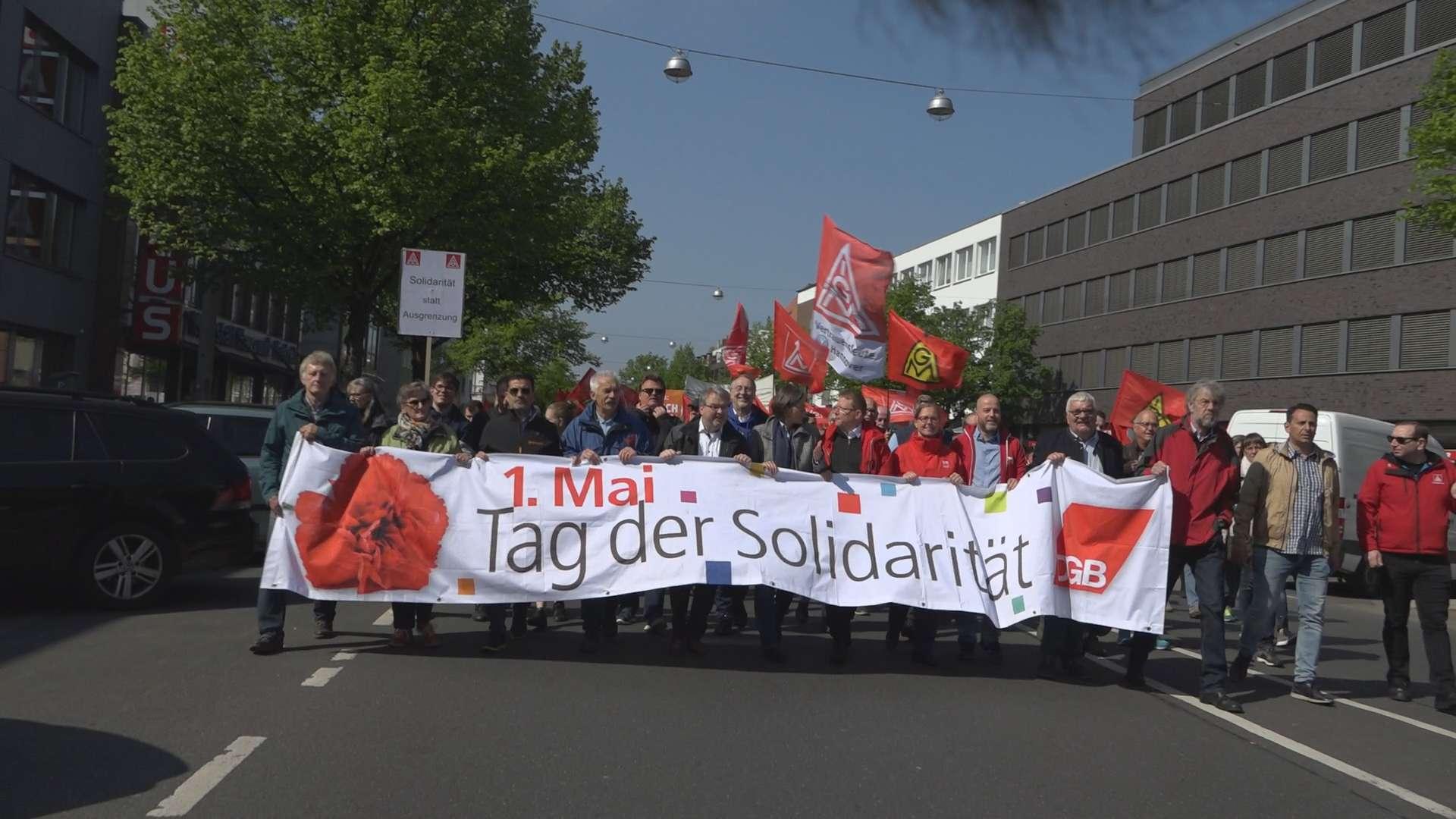 Dreharbeiten DGB Kundgebung 1 Mai Hannover
